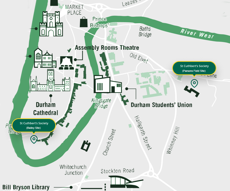 St Cuthbert's Society Map