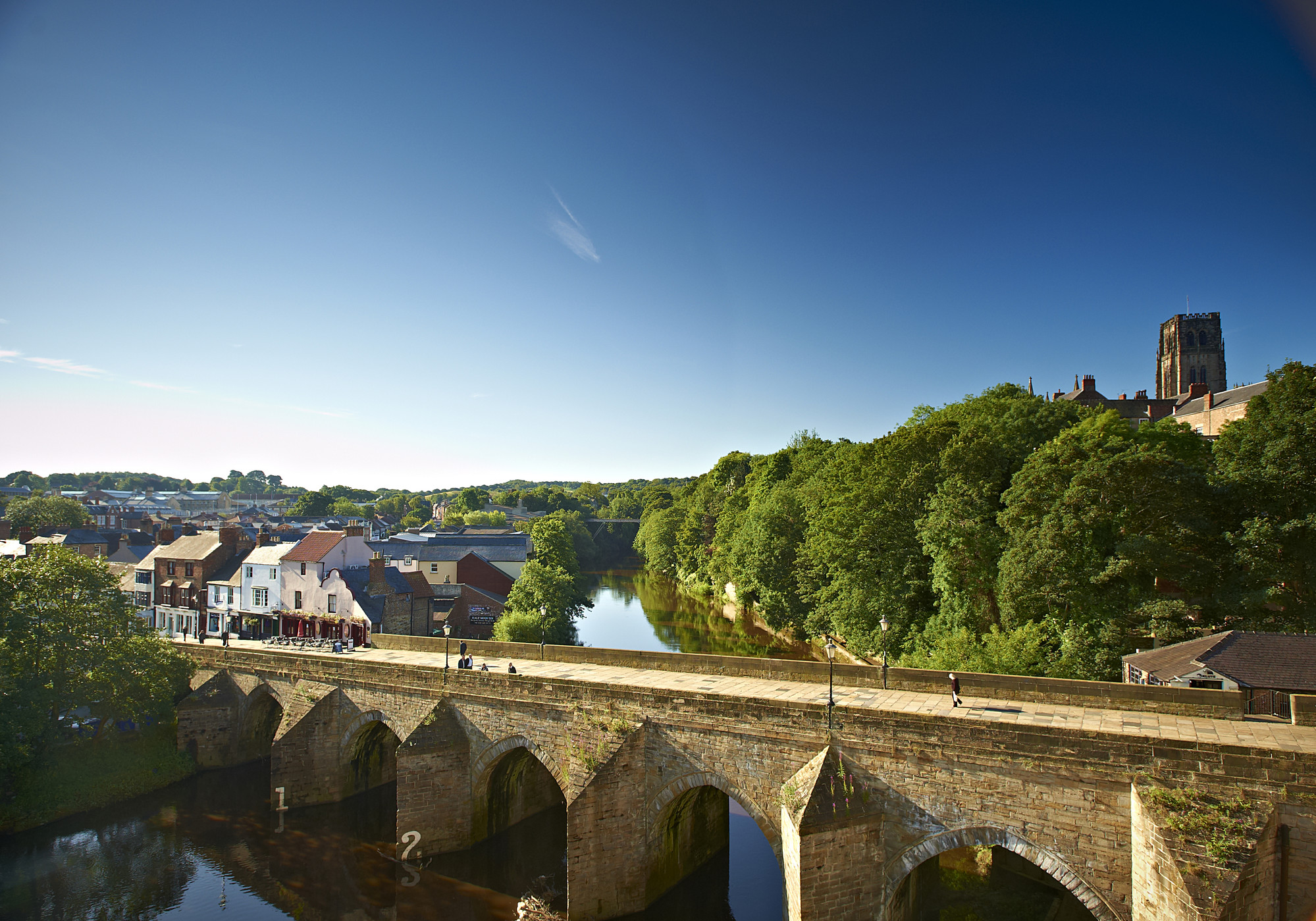 Elvet bridge and Durham Cathedral